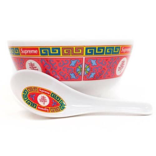 SUPREME Longevity Soup Bowl with Spoon NEW AUTHENTIC Box Logo FW16