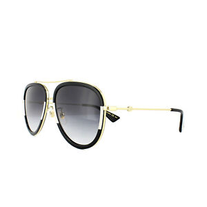6234f154fb5a5 Image is loading Gucci-Sunglasses-GG0062S-006-White-Striped-Black-Grey-