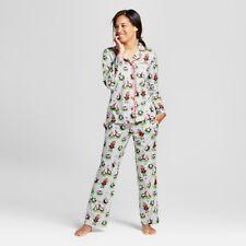 item 1 Nite Nite Munki Women s Gray Christmas Holiday Penguins 2pc Pajamas  Set 3b1ac0428