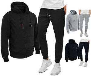 Mens-Suit-Pants-and-Shirt-Hoodie-Plush-Winter-Sport-Fitness