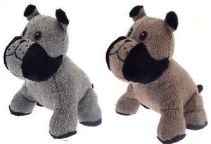 Cute-Cuddly-Bull-Dog-Door-Stop-Stopper-Filled-Heavy-Animal-Door-Wedge-Striped