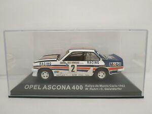 1-43-OPEL-ASCONA-400-MONTECARLO-1982-ROHRL-IXO-RALLY-COCHE-ESCALA-DIECAST-SCALE
