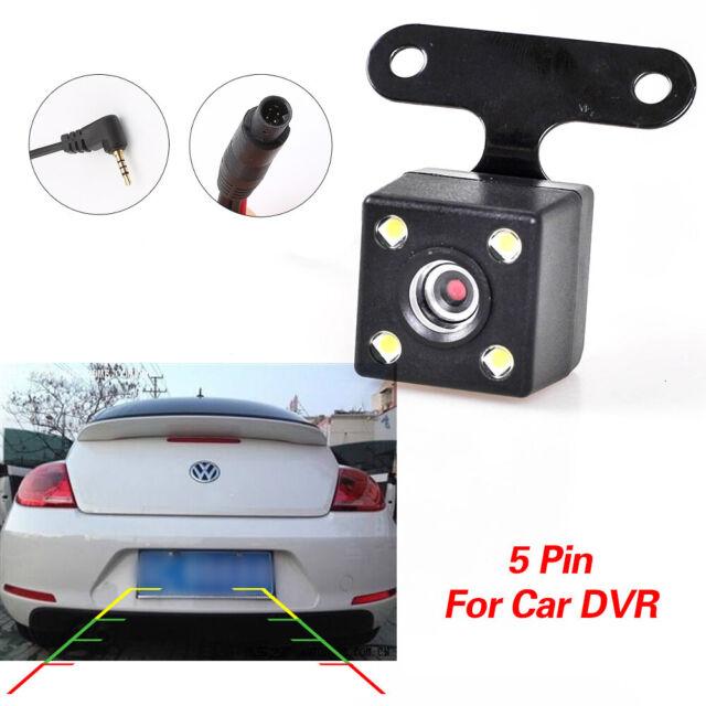 5 Pin 4 Led HD CCD Car Rear View Camera Reverse Backup Parking Cam Waterproof