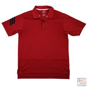 Adidas Golf ClimaCool Mens S Short Sleeve Polyester Polo Shirt Regular Red