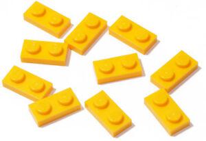 LEGO-10-x-Basic-Platte-1x2-hell-orange-bright-light-orange-3023-NEUWARE
