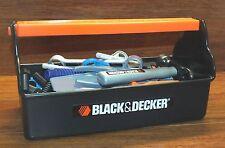 Black and Decker Plastic Tool Box Kids Play Pretend Gift Set Kit Toy **READ**