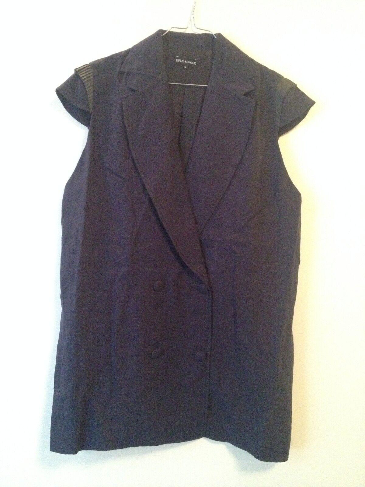 Robe courte EPLE & MELK Lin blue M 38