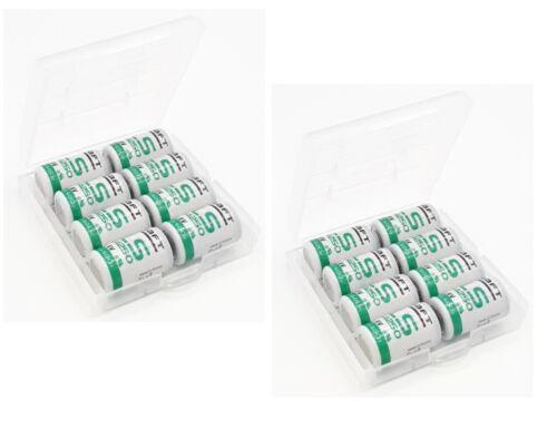 16 x Saft Battery LS14250 1//2AA 1200mAh Lithium Thionyl Chloride 3,6V