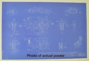 Ar 15 Rifle Lower Receiver Blueprint Poster 24 X36 Ebay