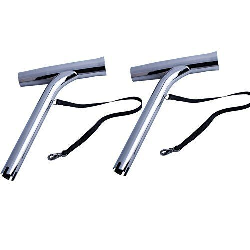 Pair Stainless Steel Outrigger Fishing Rod Holder for Marine Boat Yacht