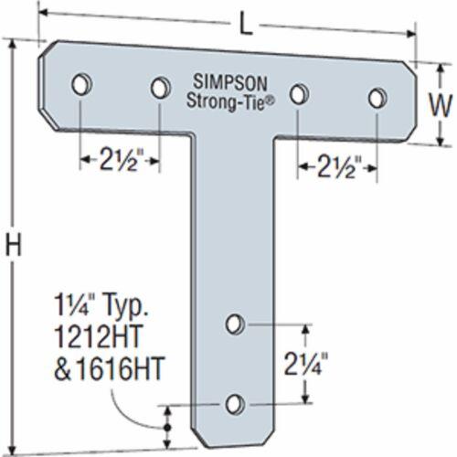 1616HT Heavy Strap Tie Box of 2pcs