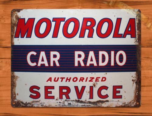 "TIN SIGN /""Motorola Car Radio/"" Auto Garage Wall Decor"