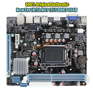 NEW-for-Intel-H61-Socket-LGA-1155-MicroATX-Computer-Motherboard-DDR3-PLACA-MAE