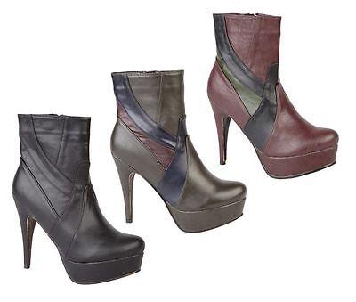 Señoras black/grey/purple Coco Alta Botín Uk tamaños 3 - 8 Venta l8629