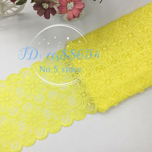 Coloré Fleur élastique stretch dentelle ruban de couture robe jupe bandeau A68