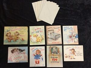 Darling-Vintage-Set-of-Birthday-and-Get-Well-Cards-in-Original-Box