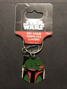 Boba Fett Star Wars Mandalorian Leather Key Fob  Key Chain Mythosaur