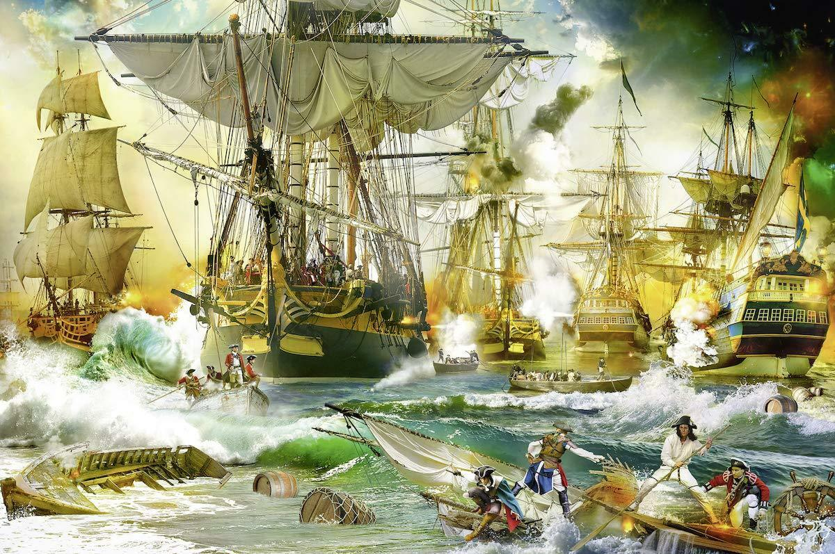 NEW  Ravensburger Battle on the High Seas 5000 piece fine art jigsaw puzzle