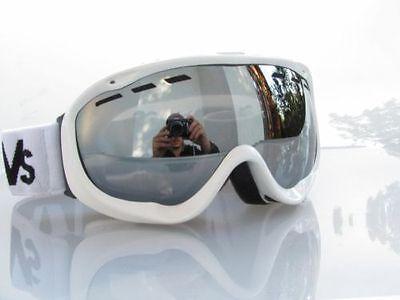 100% Vero Ravs Occhiali Da Sci/snowboard Protettivi Sci Anti-nebbia Argento Dis