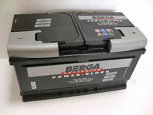 berga powerblock autobatterie 12v 80ah 80 ah 580406 pkw ebay. Black Bedroom Furniture Sets. Home Design Ideas
