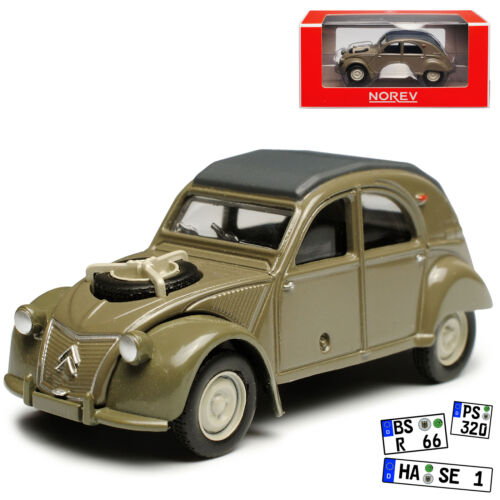 Citroen 2cv 4X4 Grau 1949-1990 1//64 Norev Modell Auto mit oder ohne individiuell