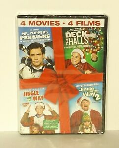 4-Christmas-dvd-Jingle-All-The-Way-1-2-Deck-The-Halls-Mr-Popper-039-s-Penguins-NEW
