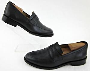 d0890d8db043e Brooks Brothers 346 Moc Toe Penny Loafer Dress Shoes Black Leather ...