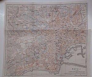 La Cartina Di Napoli.Primi 900 R R Cartina Geografica Di Napoli Ebay
