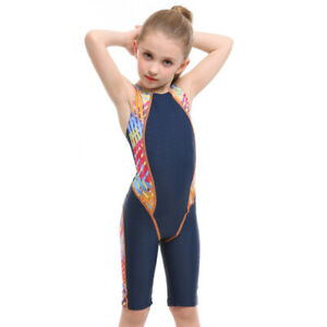 Kids Girl One Piece Swimsuit Bathing Suit Swimming Competition Swimwear Monokini