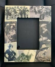 Western Vintage Cowgirls Photo Picture FRAME Blankety Blank Designs Signed Horse