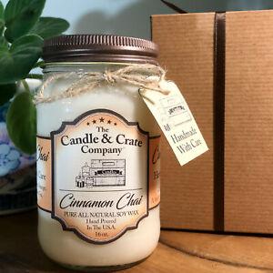 Handmade-Mason-Jar-Soy-Candle-That-Smells-AMAZING-Cinnamon-Chai-Free-Shipping