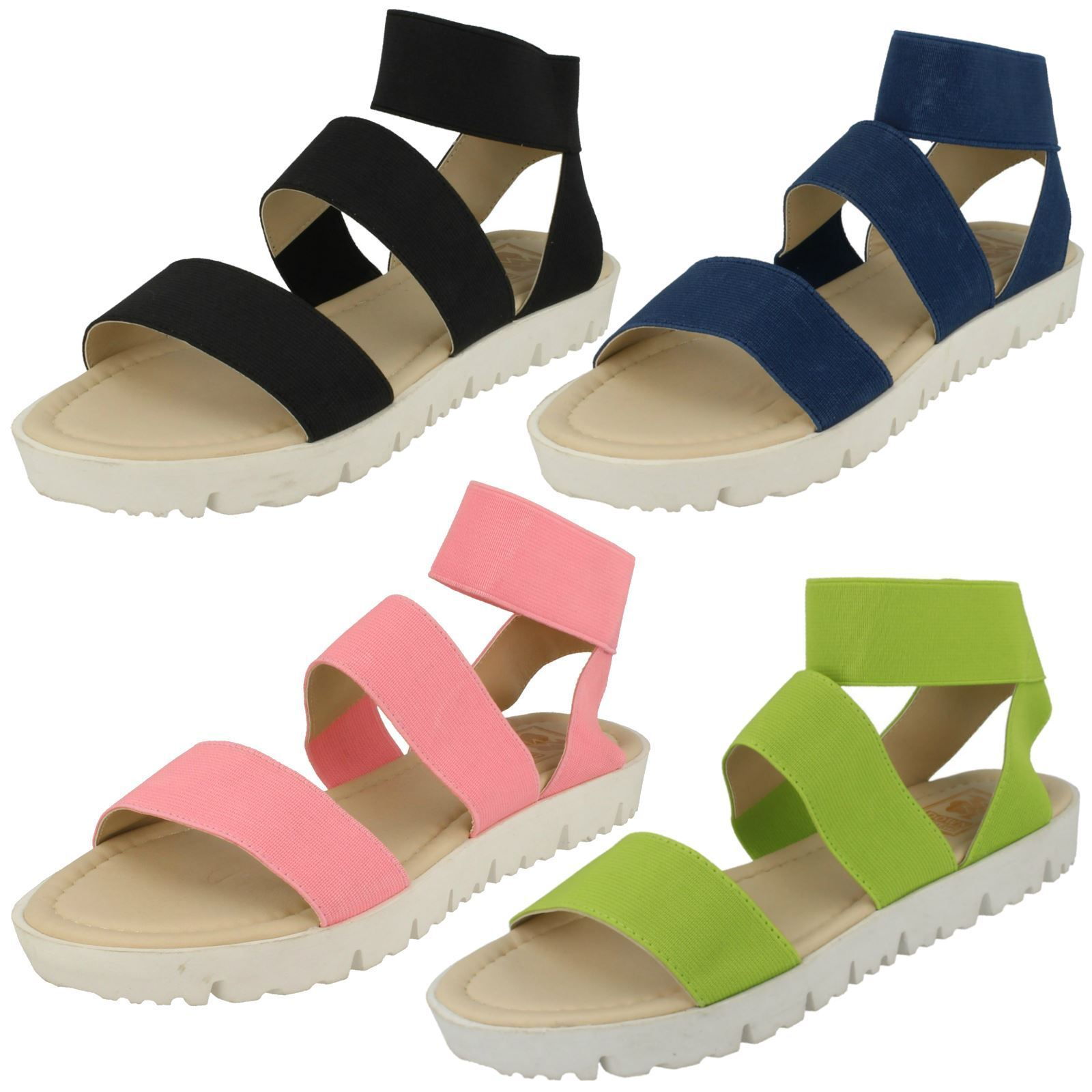 Men's/Women's Down Flat To Earth Ladies Elasticated Flat Down Sandals Modern and elegant fashion First batch of customers Very good classification BB969 a9595a