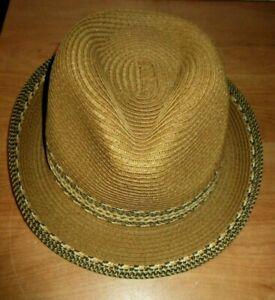 ef4040435222a Men s Punky Straw Casual Beige Fedora Cuban Style Upturn Short Brim ...