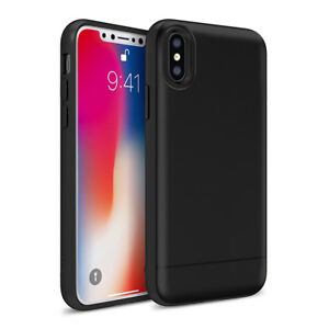 meet 1390e 39e89 Details about (BLACK) Ginza Box iPhone 8, 8 Plus, X Case with Built-in  Credit Card Holder
