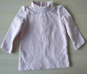 Pull col roulé rose bébé fille vêtement manches longues taille 6 mois