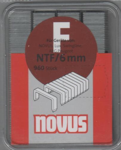 4009729002254 Novus parenthèse F Type ntf//6mm Chemise 960 pcs 042-0379
