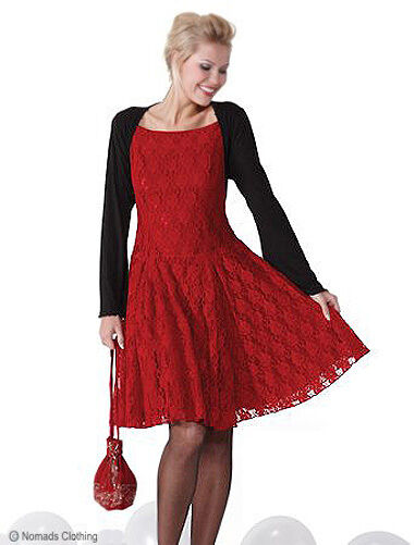 RED LACE DRESS SIZE 14 LADIES HALLOWEEN PARTY DEVIL QUALITY EVENING WEAR NEW