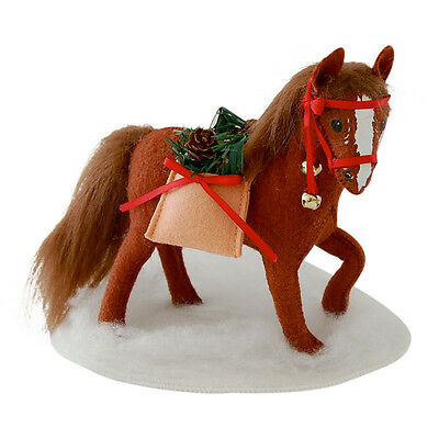 "MERRYMINT HORSE 8"" Christmas Display Pony Decoration Sleigh Bells Annalee 2014"