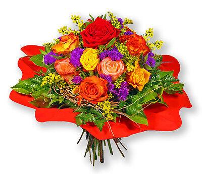 """Blumenversand Bunter Blumenstrauß Rosenstrauß """"rosenmix"""" Blumensträuße"""