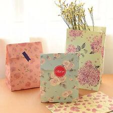 3Stk. Bunte Reizende Blumen Drucken Hochzeits Geschenk Papierbeutel Partei Neu