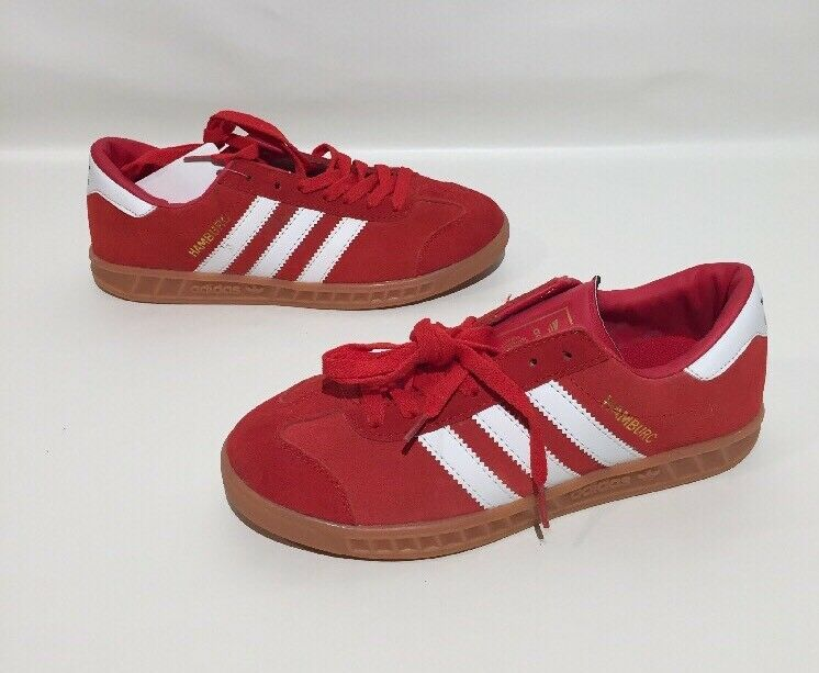 Adidas Hamburg Hamburc Athletic shoes Mens Red Suede Size 8 EXCELLENT