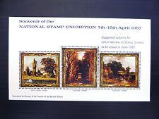 GB 1967 Paintings Stampex M/Sheet NEW PRICE FP7143