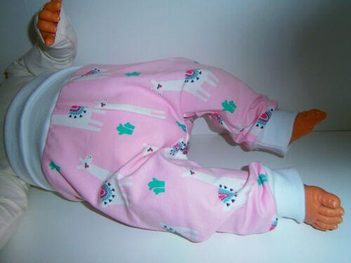 ♥ Handmade ♥ Lamas rosa ♥ ♥ kuschelhose ♥ pantalones ♥ mitwachshose ♥ talla 50-104 ♥