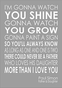 Father and daughter by paul simon lyrics