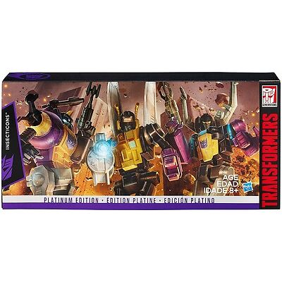Transformers Platinum Edition Insecticons Bombshell Kickback Skrapnel NEW (G)
