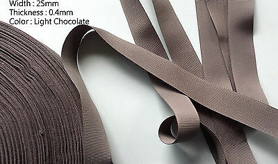 25 mm POLYESTER STRAP WEBBING APRON DRESS SEWING CRAFT TWILL TAPE- CHOCOLATE