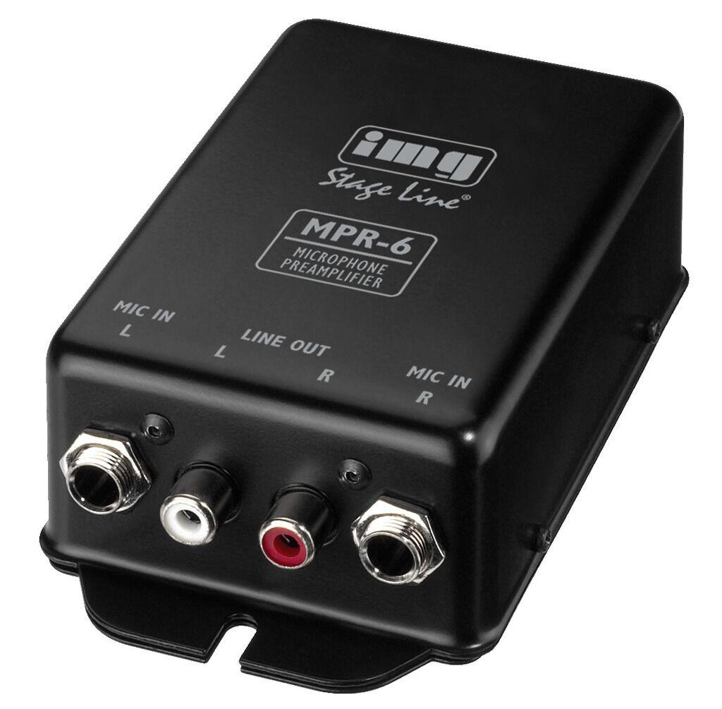 Stereo-Mikrofon-Vorverstärker Monacor Stage Line MPR-6