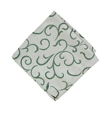 Abile Da Uomo/ragazzo Verde Pergamena Da Matrimonio Sposo Fazzoletto/fazzoletto Da Taschino Fazzoletto-mostra Il Titolo Originale