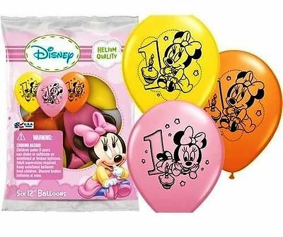 "12"" Inch Disney Minnie Mouse Latex Helium Balloons 1ST Birthday Party"