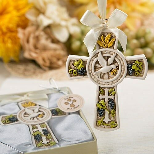 40 Holy Harvest Cross OrnaHommest Christening Baptism Shower Religious Party Favors